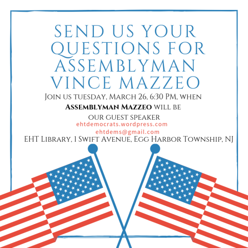 vince mazzeo new jersey assembly democrats democratic club