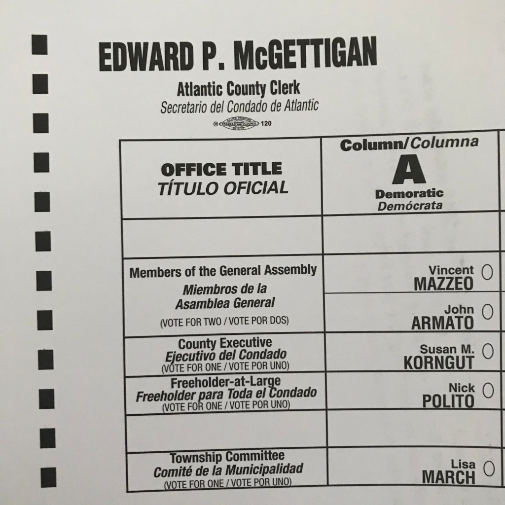 2019 vote by mail ballot atlantic county new jersey egg harbor township